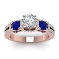 rose-gold-round-white-diamond-engagement-wedding-ring-with-blue-sapphire-in-prong-set-FD65511RORGSABLANGLE5-NL-RG