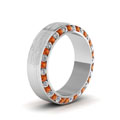 white-gold-round-white-diamond-mens-wedding-band-with-orange-sapphire-in-channel-set-FDDB1040BGSAORANGLE2-NL-WG
