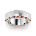 white-gold-round-white-diamond-mens-wedding-band-with-orange-sapphire-in-channel-set-FDDB1040BGSAORANGLE5-NL-WG