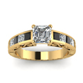 yellow-gold-asscher-white-diamond-engagement-wedding-ring-with-black-diamond-in-channel-set-FDENR2640ASRGBLACKANGLE5-NL-YG