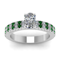 white-gold-cushion-white-diamond-engagement-wedding-ring-with-green-emerald-in-prong-set-FDENR2737CURGEMGRANGLE5-NL-WG