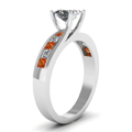 white-gold-princess-white-diamond-engagement-wedding-ring-with-orange-sapphire-in-channel-set-FDENR7776PRRGSAORANGLE2-NL-WG