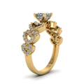 yellow-gold-princess-white-diamond-engagement-wedding-ring-in-micropave-set-FDENS3051PRRANGLE2-NL-YG