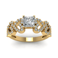 yellow-gold-princess-white-diamond-engagement-wedding-ring-in-micropave-set-FDENS3051PRRANGLE5-NL-YG