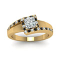 yellow-gold-princess-white-diamond-engagement-wedding-ring-with-black-diamond-in-prong-set-FDENS3166PRRGBLACKANGLE5-NL-YG